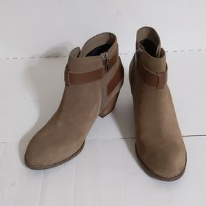 Dolce Vita (7.5) Jaxen Taupe Suede Leather Booties